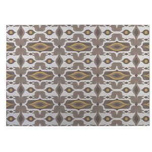 Mojave Brown/Yellow Indoor/Outdoor Doormat