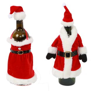 2 Piece Mr And MrsClaus Bottle Topper Set