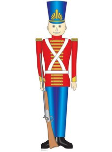 christmas toy soldier cardboard stand up - Christmas Soldier