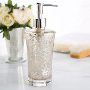 Mercury Glass Vanity Lotion Dispenser