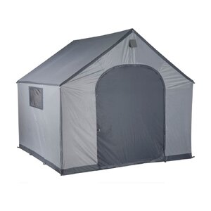 StorageHouse 9 ft. W x 9 ft. D Plastic Portable Storage Shed
