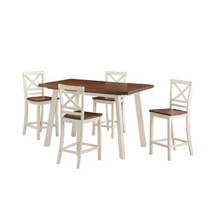 Yeboah 5 Piece Counter Height Dining Set