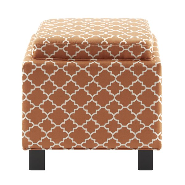 Three Posts Hernandes Square Storage Ottoman With Pillow | Wayfair