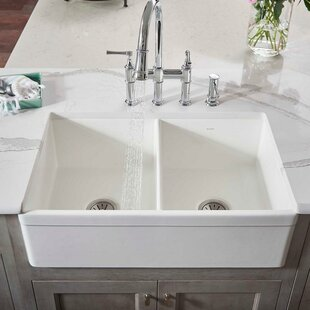 Quickview Elkay 33 L X 20 W Double Basin Farmhouse Kitchen Sink