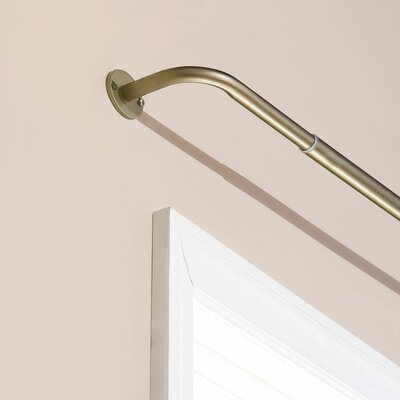 Best Home Fashion, Inc. Perfect Wraparound Blackout Single Curtain Rod and Hardware Set Size: 96 W, Color: Silver