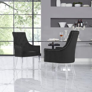 Hannatou Upholstered Button Tufted Dining Chair (Set of 2)