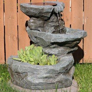 Vasquez Fibregl Solar Garden Water Fountain