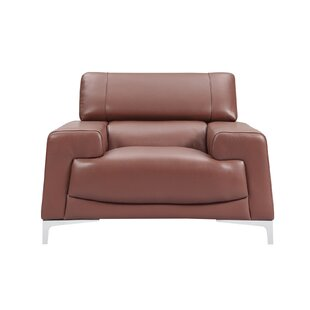 Elegant Tipton Modern Saddle Leather Armchair