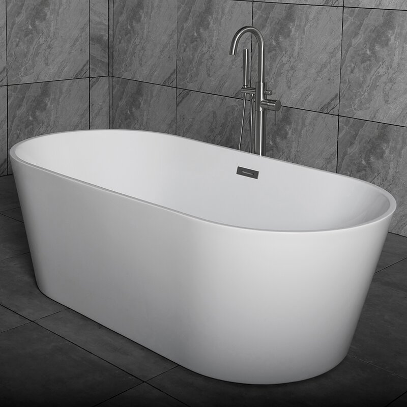 "woodbridge 59"" x 29.5"" freestanding soaking bathtub & reviews"