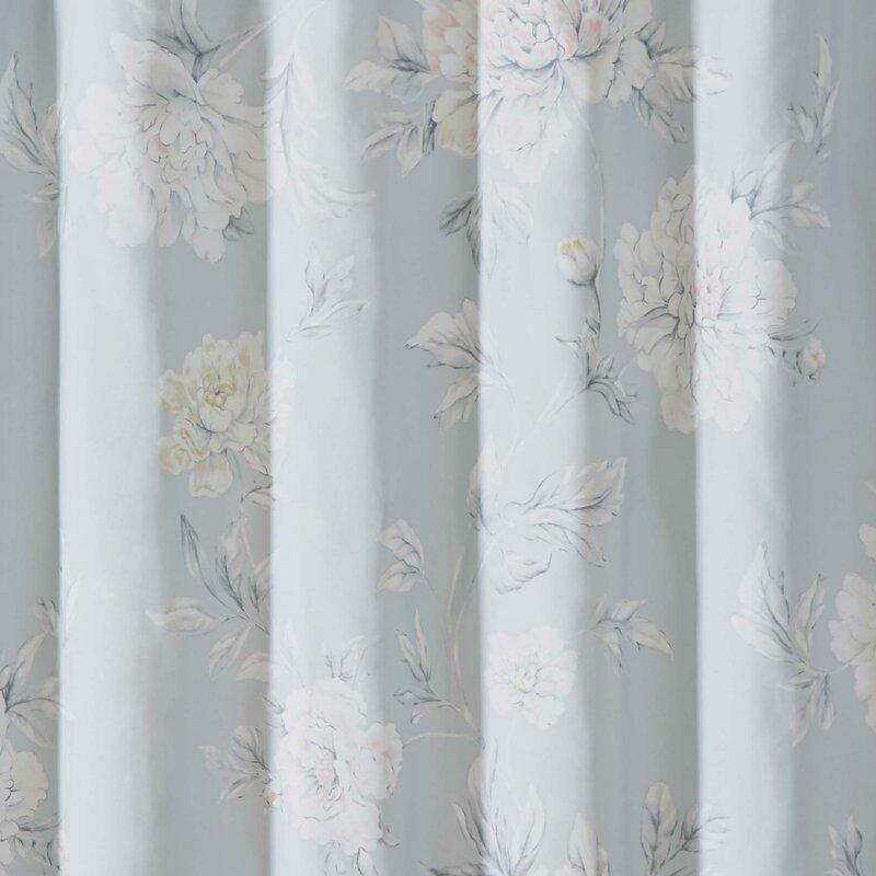 Christian Siriano Stem Floral Shower Curtain | Wayfair