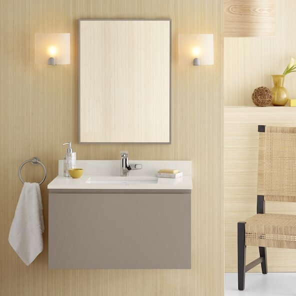 "ronbow ariella 31"" single wall mount bathroom vanity set & reviews"
