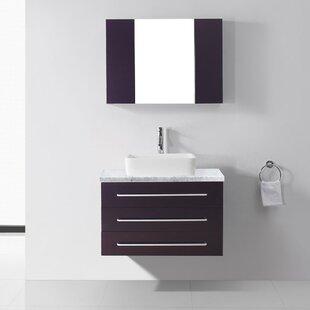 Ultra Modern Series 33 Single Bathroom Vanity Set With Mirror