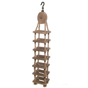 Guidry Wood and Rope Hanging Wine Bottle Rack