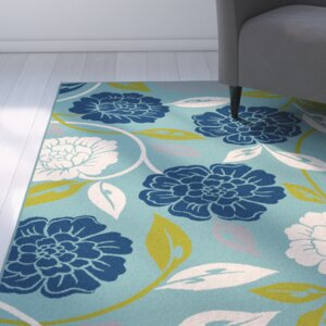 Mathis Aqua Indoor / Outdoor Area Rug