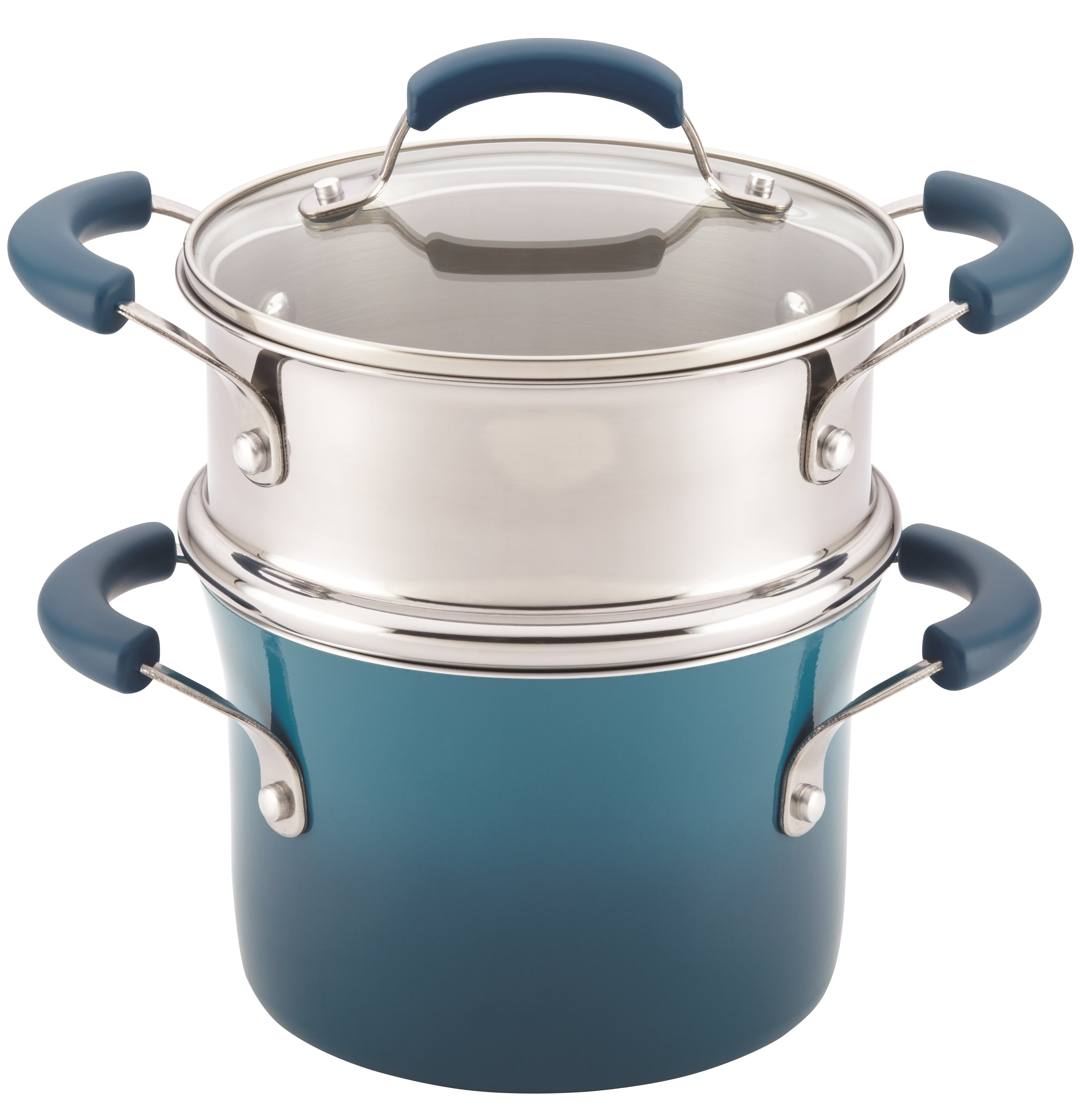 Rachael Ray 3-qt. Nonstick Sauce Pot and Steamer Insert Set with Lid ...