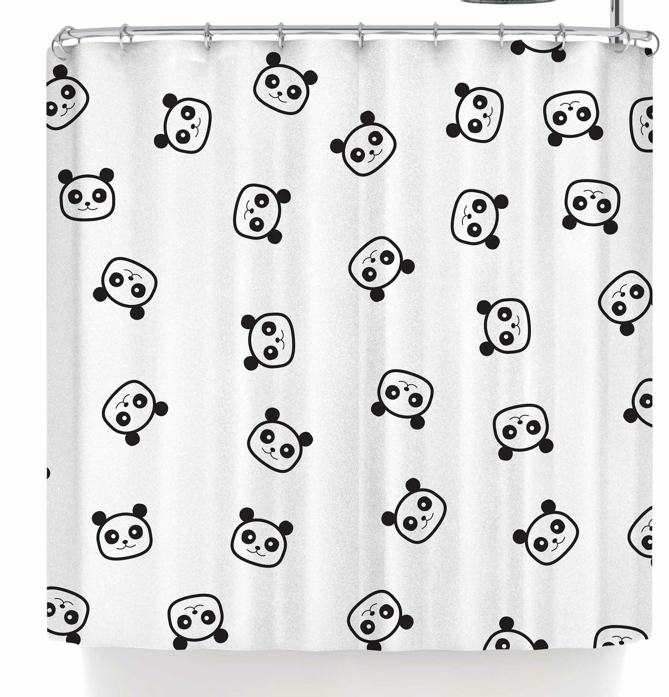 East Urban Home Tobe Fonseca Pandamonio Panda Shower Curtain