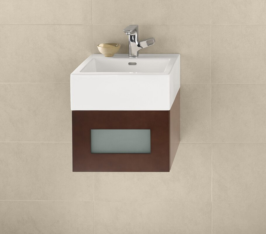 Ronbow ceramic rectangular vessel bathroom sink with for Are vessel sinks out of style
