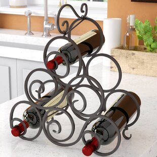 Nelda 6 Bottle Tabletop Wine Bottle Rack