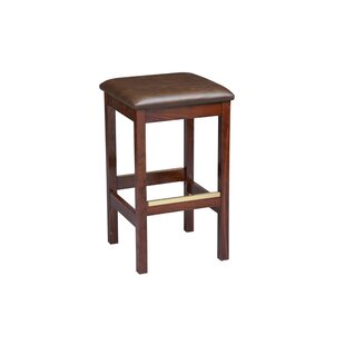 Beechwood Square Backless Upholstered Seat 30 Bar Stool
