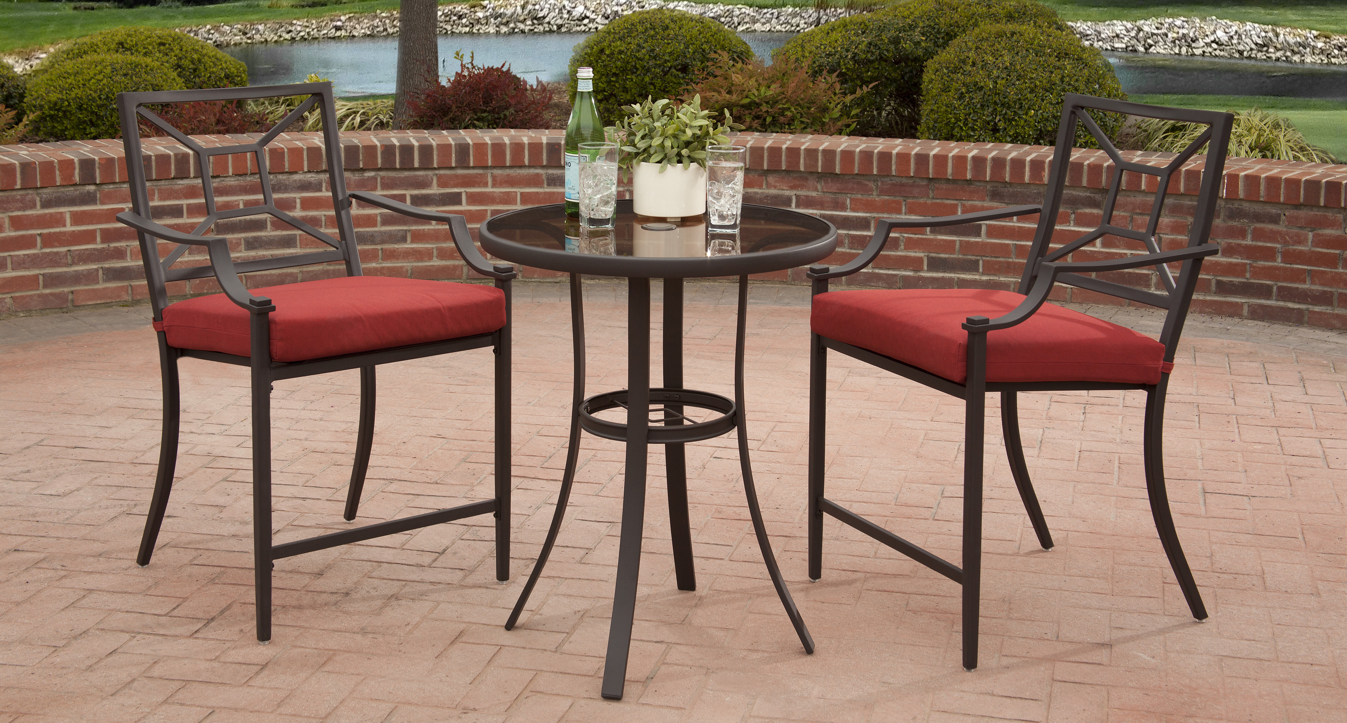 Ordinaire Laredo 3 Piece Bar Height Dining Set