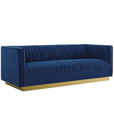 Mercer41 Curtin Vertical Sofa Upholstery Color: Navy