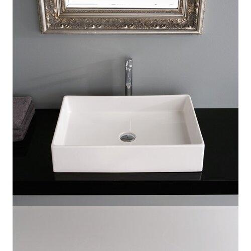 Teorema Ceramic Rectangular Vessel Bathroom Sink
