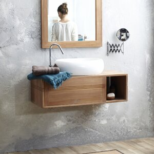 95 cm wandbefestigter Waschbeckenunterschrank Basic von Tikamoon