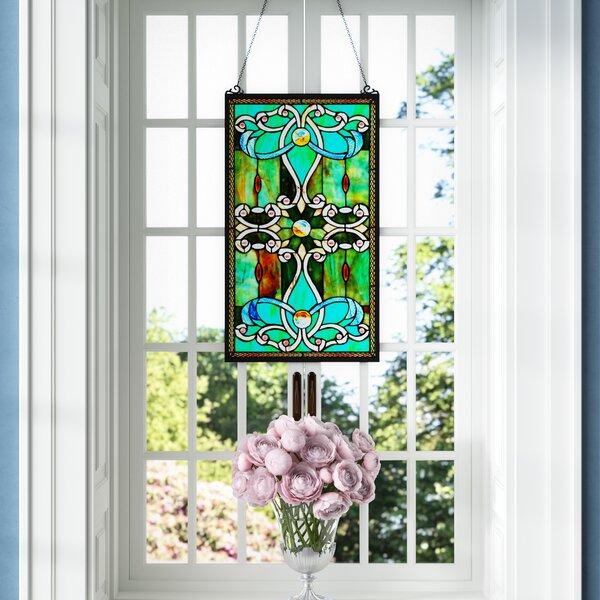Fleur De Lis Living Tiffany Style Stained Gl Window Panel Reviews Wayfair