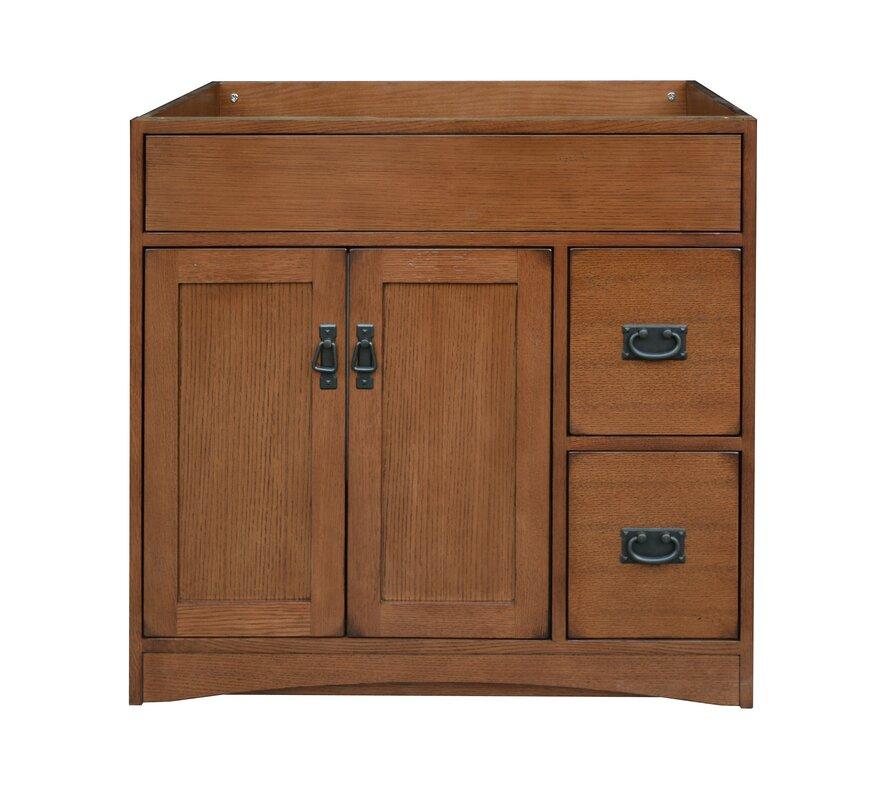 "Sunnywood Kitchen Cabinets: Sunny Wood Mission Oak 36"" Bathroom Vanity Base & Reviews"