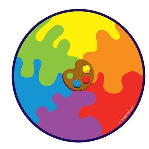 Decorative Color Palette Kids Rug