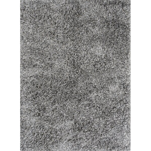 linie design ronaldo light grey area rug & reviews | wayfair