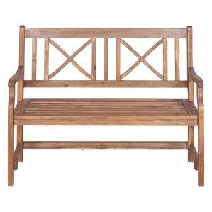 Conner Folding Acacia Wood Garden Bench