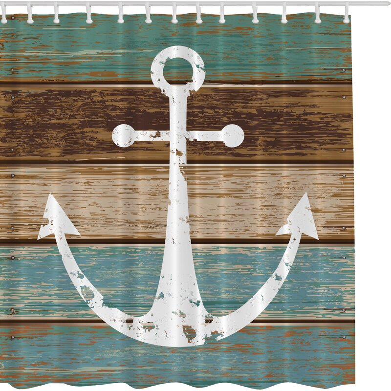 Beachcrest Home Patria Print Shower Curtain   Wayfair