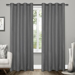 baillons solid blackout thermal grommet curtain panels set of 2
