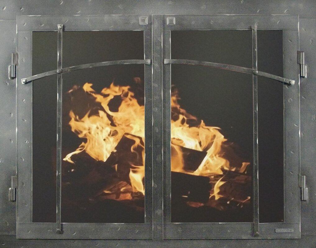 Ironhaus mountain series fireplace glass door reviews wayfair mountain series fireplace glass door planetlyrics Choice Image