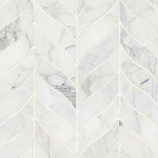 Herringbone White & Cream Tile You\'ll Love | Wayfair