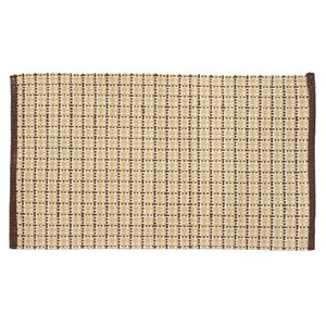 Tattersall Plaid Hand-Woven Brown Area Rug
