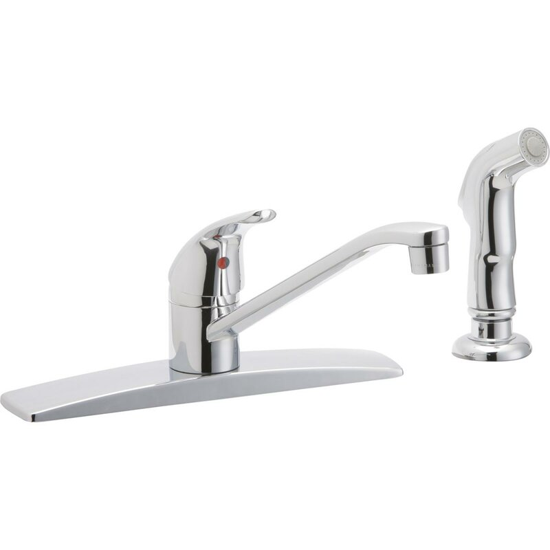 Elkay Single Handle Kitchen Faucet with Side Spray & Reviews | Wayfair