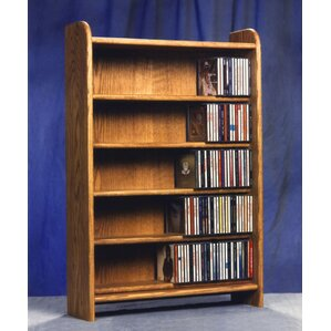 500 Series 275 CD Multimedia Storage Rack by Wood Shed
