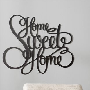 Laser Engraved Home Sweet Home Wall Décor