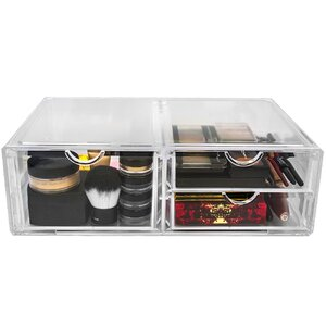 Acrylic 3 Drawer Cosmetic Organizer