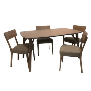 Crompton 5 Piece Solid Wood Dining Set