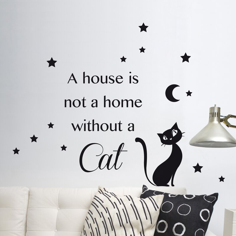 wallpops! home decor line cat silhouette wall decal & reviews | wayfair