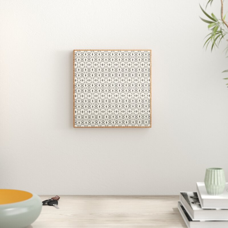 Mistana 'Geo Mudcloth' Framed Graphic Art Print