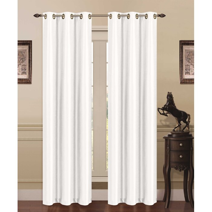 Solid Blackout Grommet Thermal Curtain Panels
