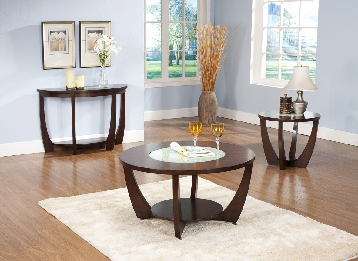 Round Coffee Table With Chairs.Thurmont 3 Piece Coffee Table Set