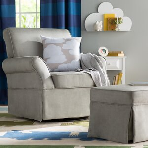 Antonia Swivel Glider and Ottoman