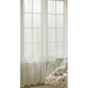 victor sheer rod pocket single curtain panel