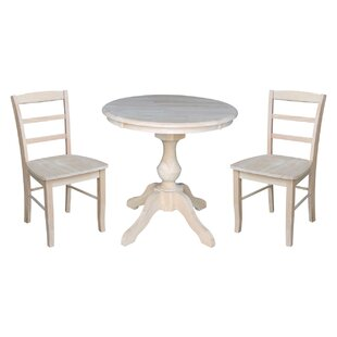 Quietwood 3 Piece Solid Wood Dining Set