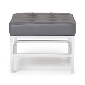 Ashlar Leather Ottoman by Studio Designs HOME